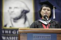 Valedictorian, Elliott School of International Affairs, George Washington University 2006. Courtesy: Photograds
