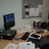 My messy desk - literature review assignment preparation (1)