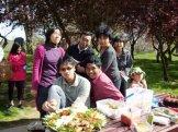 Harti with Fauzi, Bagus, Miranti Dewa and Filya[1]... and nasi tumpeng