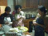 Harti, Uti and Imma in the making of empek empek. Photo by Karina