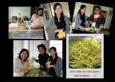 Novi and Lala in the making of home-made noodle. Photo by Novi Kardini