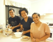 Alberth, Risa, Kanya, sharing recipes 10 Jan 2012