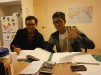 Rifqi and Alberth - math tutoring session
