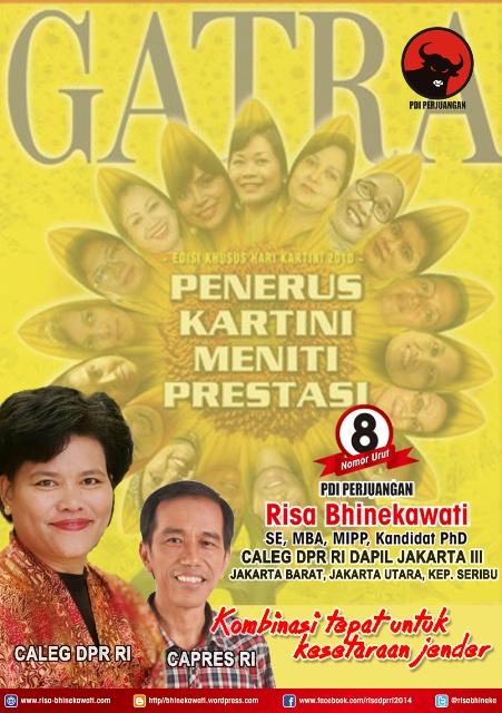 Poster kampanye untuk Pak Jokowi