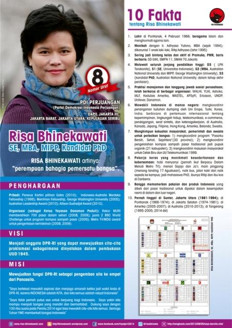 poster kampanye saya berisi 10 fakta tentang Risa