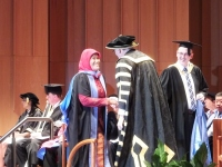 Coferring of PhD degree by Professor the Hon Gareth Evans AC QC, Chancellor, the Australian National University